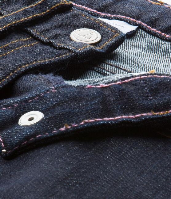 Mädchen-Hose aus Raw Denim blau Jean