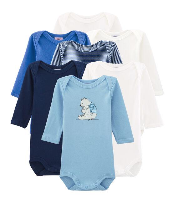 Überraschungsbeutel mit sieben langärmeligen Bodys für Baby Jungen lot .