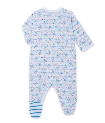 Bedruckter Baby-Mädchen-Strampler aus gedoppeltem Jersey