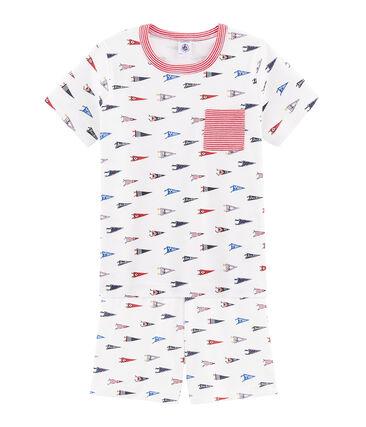Kurzpyjama aus Rippstrick für kleine Jungen