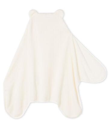 Cape/Decke aus Fleece für Jungen weiss Marshmallow / blau Medieval