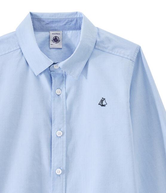 Kinderhemd Jungen blau Bleu