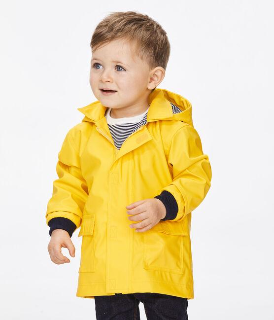 Ikonischer Petit Bateau-Baby-Regenmantel Mädchen/Jungen gelb Jaune