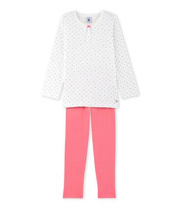 Gepunkteter Mädchen-Schlafanzug