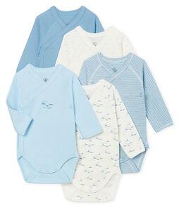 Set mit 5 langärmligen Bodys für Neugeborene
