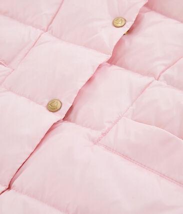 Daunenjacke mit Daunen- und Federfüllung für Mädchen rosa Fleur Cn