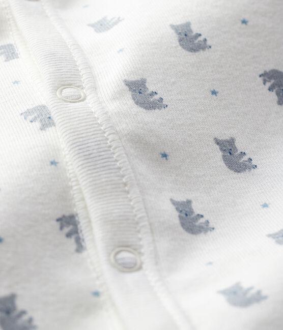 Kombi-Overall mit Koala-Motiv für Jungen aus Rippstrick weiss Marshmallow / weiss Multico