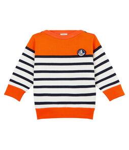 Baby-Sweatshirt mit seemannsstreifen in colorblock jungen