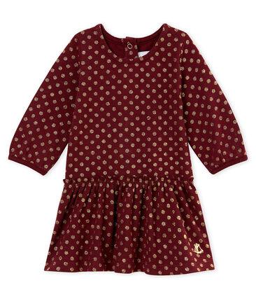 Mit goldenen Punkten bedrucktes Baby MädchenKleid