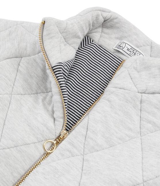 Blouson aus Doppeljersey für Damen grau Beluga Chine