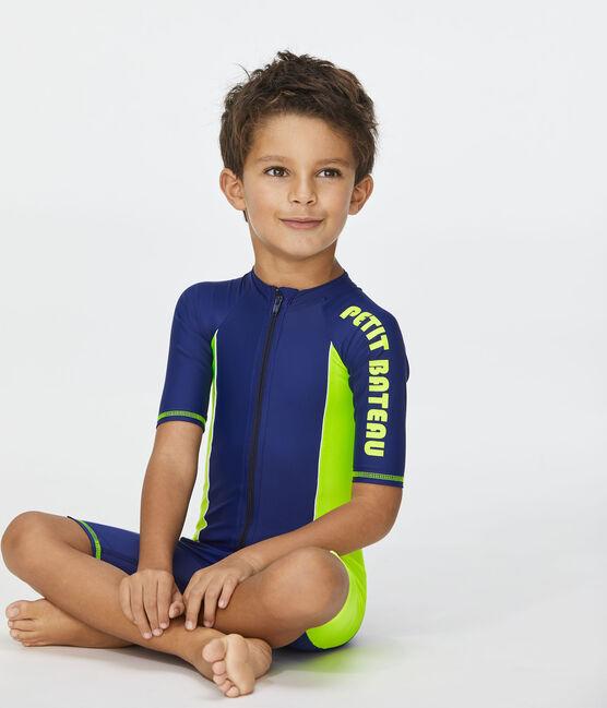 Sonnenschutz-Overall für Kinder blau Smoking