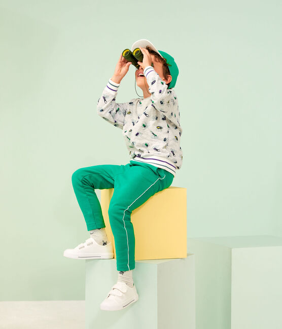 Kinder-Strickhose für Jungen grün Prado
