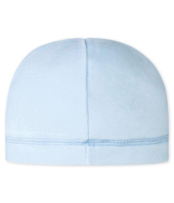 Unisex Baby Mütze aus Nicki für Neugeborene blau Fraicheur