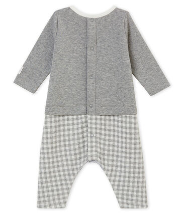 Langer Baby Jungen Overall mit Vichy-Karomuster