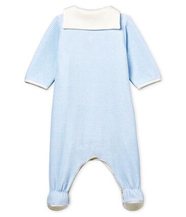 Baby-bodyjama jungen aus samt mit ringelstreifen