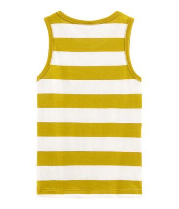 Kinder-Tanktop Jungen gelb Bamboo / weiss Marshmallow