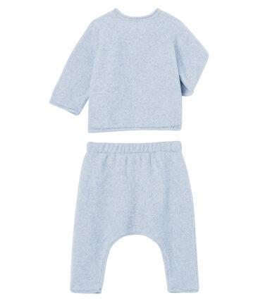 2-teiliges Baby-Set aus Baumwolle, Merinowolle und Polyester