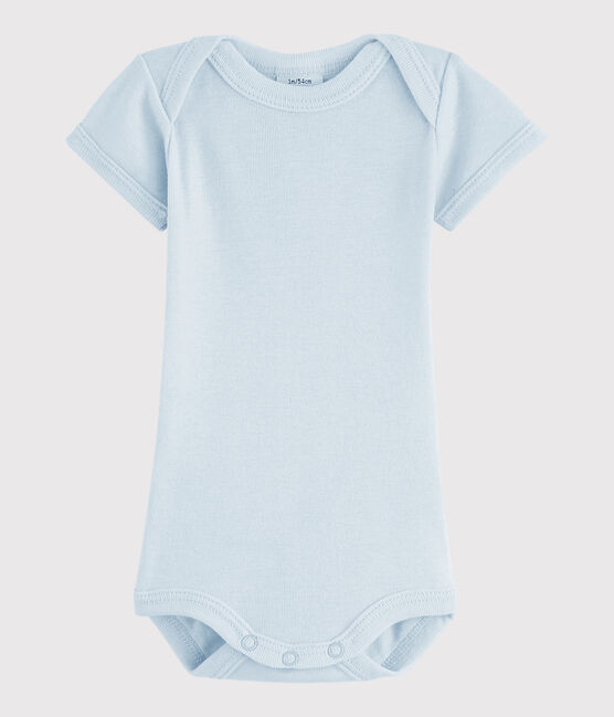 Kurzärmeliger Baby-Body Jungen blau Fraicheur