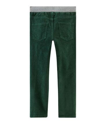 Samthose für Jungen grün Sousbois