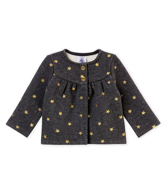 Baby MädchenCardigan mit goldenem Sternen•Print schwarz City / gelb Dore