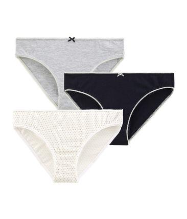 Trio Unterhosen für Mädchen aus Stretchbaumwolle