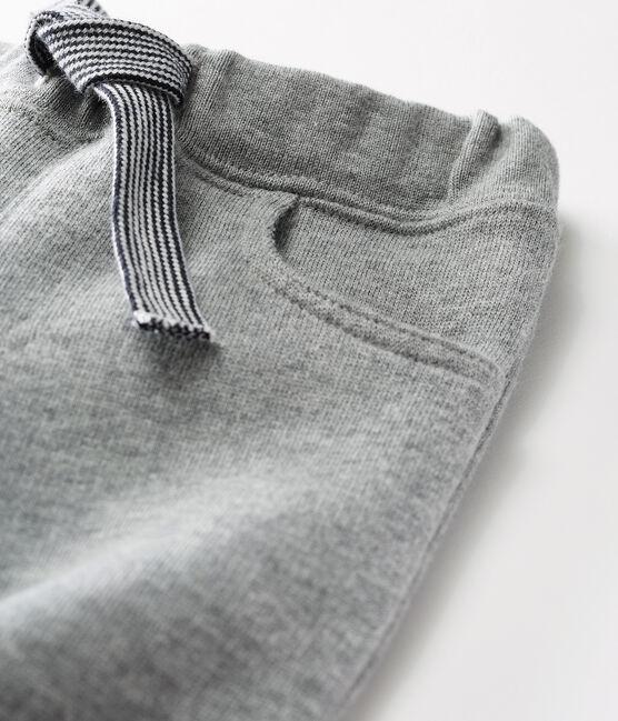 Baby-Hose aus warmem Molton für Jungen grau Subway