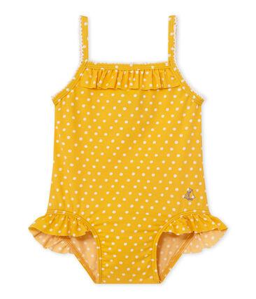 Gepunkteter Baby-Mädchen-Badeanzug