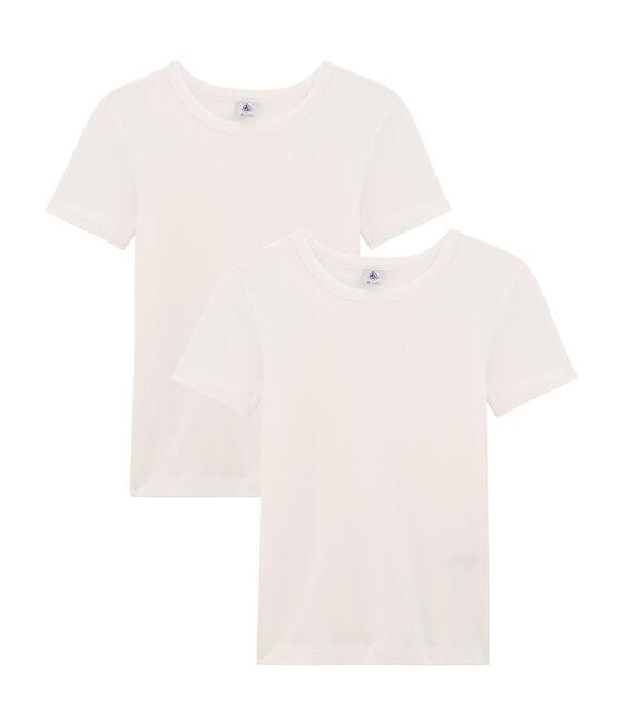 Set mit 2 emblematischen kurzärmligen T-Shirts für Damen lot .