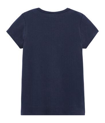 Kurzärmliges T-Shirt für Mädchen blau Smoking