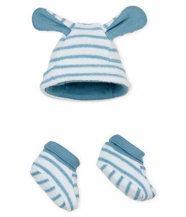 Baby-mütze und hausschuhe unisex gestreift lot .