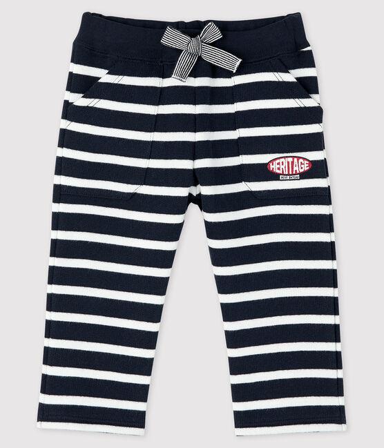Baby-Matrosenhose für Jungen blau Smoking / weiss Marshmallow