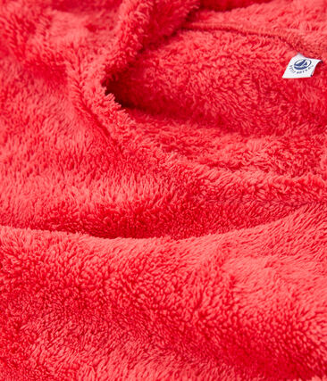 Baby-strandponcho unisex rosa Groseiller