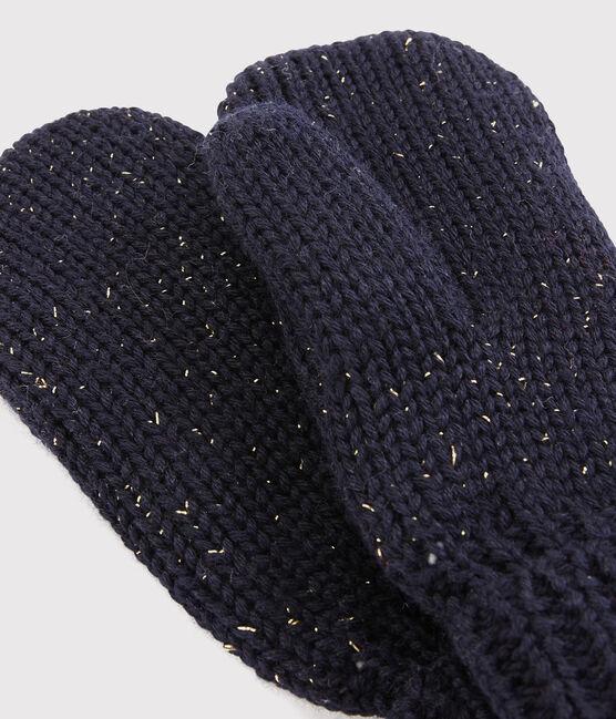 Fausthandschuhe für Mädchen blau Smoking / gelb Or