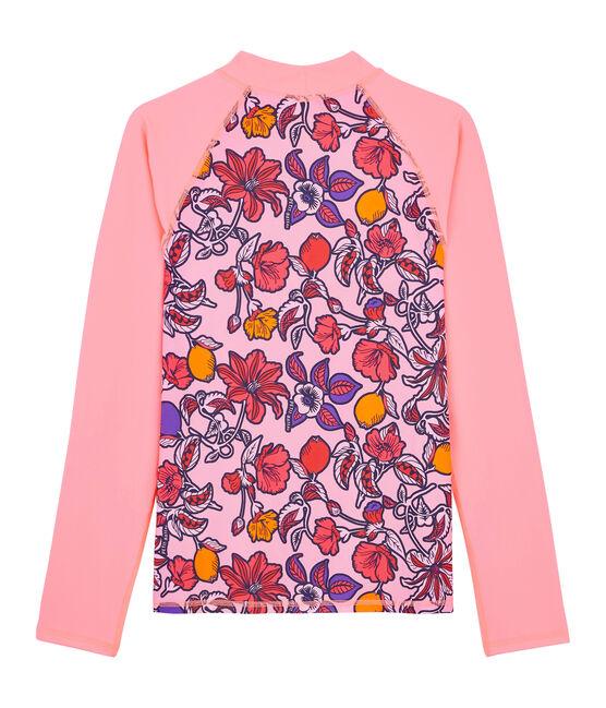 Umweltfreundliches Anti-UV-T-Shirt mit LSF 50+ für Damen rosa Patience / weiss Multico