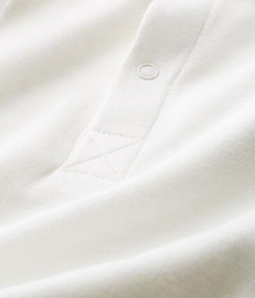 Einfarbiger kurzärmeliger body mit polokragen jungen weiss Marshmallow Cn