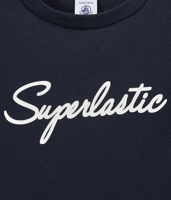 Jungen-T-Shirt mit Motiv blau Smoking