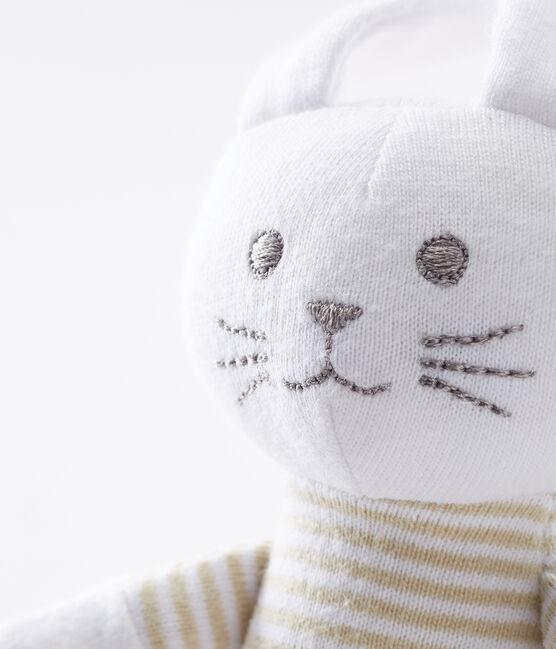 Baby-kuschelhäschen rassel unisex beige Perlin / weiss Marshmallow