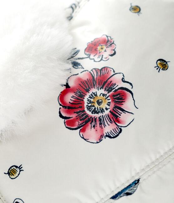 Wasserdichte Baby-Fellmütze für Mädchen weiss Marshmallow / weiss Multico