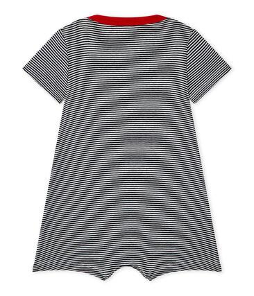 Kurzer Baby-Jungen-Einteiler mit Streifenmuster