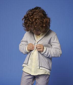 Kinder-Cardigan aus Baumwoll-Jersey für Jungen grau Poussiere Chine
