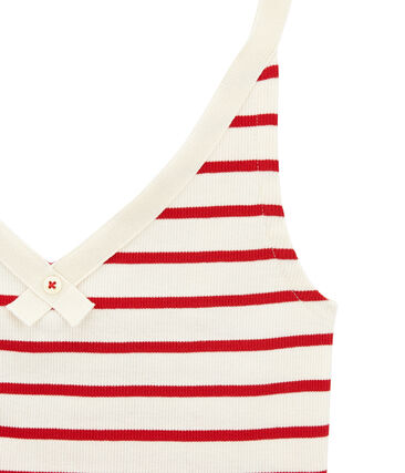 Unterhemden zur feier des 100 geburtstags des slips damen beige Coquille / rot Terkuit