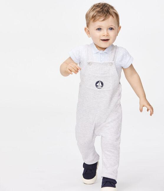 Lange, einfarbige Baby-Latzhose für Jungen grau Beluga