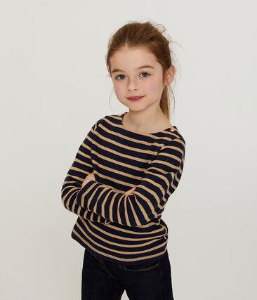 Langärmliges Streifenshirt für Mädchen