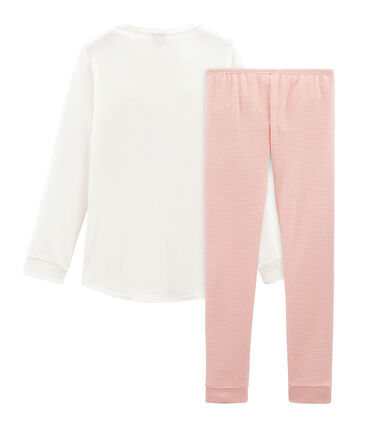 Rippstrick-Pyjama für kleine Mädchen