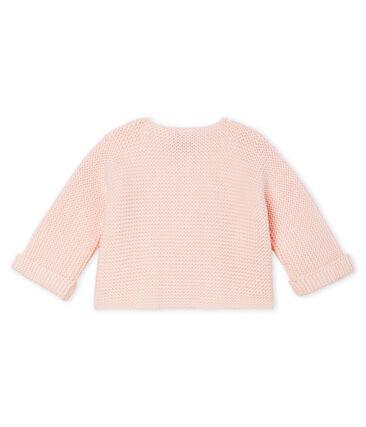 Baby-Cardigan aus 100% Baumwollstrick. rosa Fleur