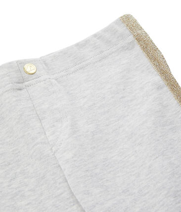 Kinder-Strickhose für Mädchen grau Beluga