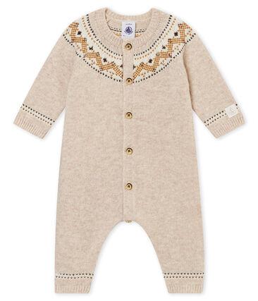Langer Baby Jungen Overall mit Jacquard-Motiv