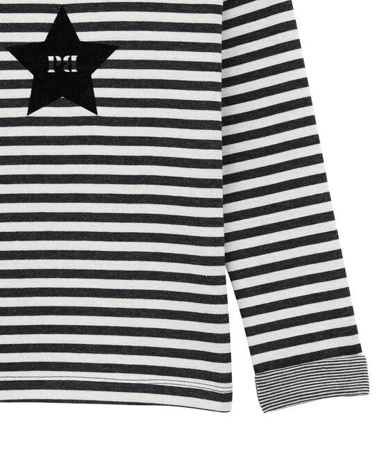 Jungen Langarmshirt aus gedoppeltem Jersey schwarz City / weiss Marshmallow