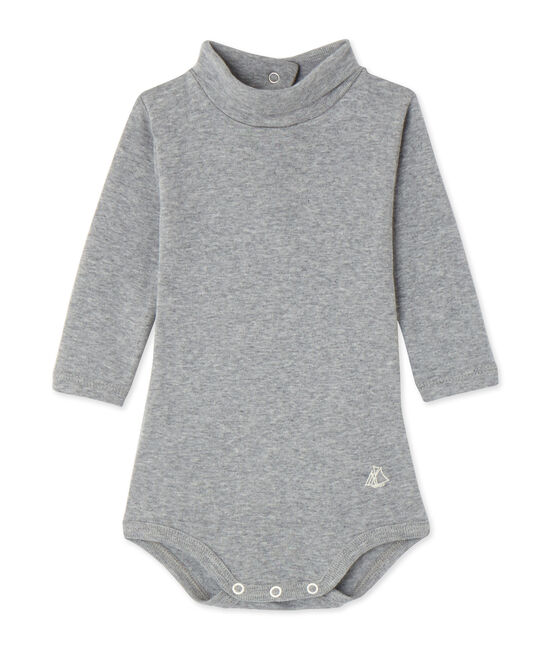 Baby-Body mit Rollkragen grau Subway Chine