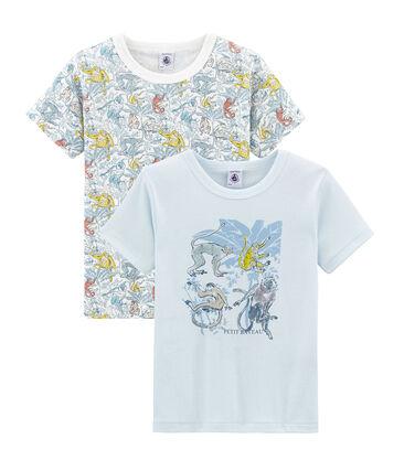 Doppelpack Kurzarm-T-Shirts aus Baumwolle für kleine Jungen